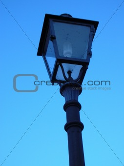 old fashion street lamp
