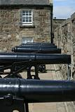 Row of cannons at Stirling Castle