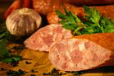 Sausage with parsley and garlic in country style