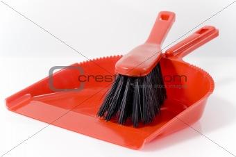 little broom with shovel