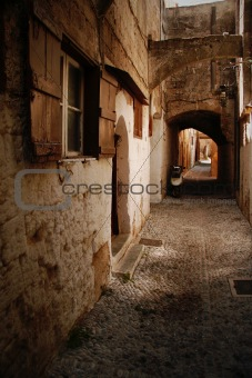 Back street in Athens greece
