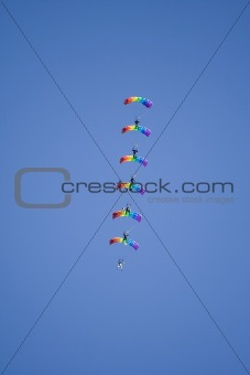 five parachutists