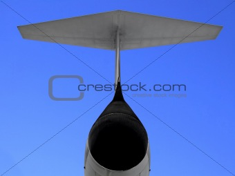 Fighter airplane tail
