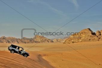 Offroading in desert