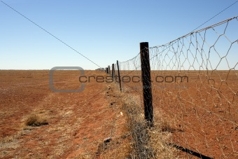 Australian outback Dingo fence