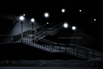 foot-bridge at night