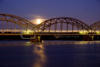 Night Train on Iron Bridge