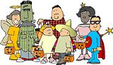 Group of Halloween kids 1