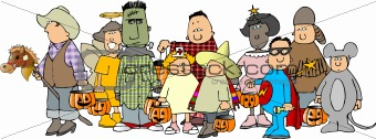 Group of Halloween kids 2
