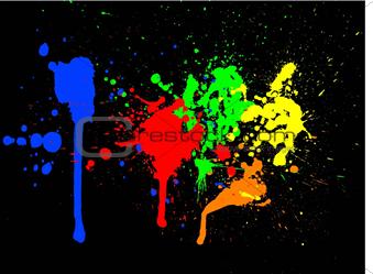 Paint splats - vector