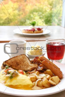 Power Breakfast - Eggs, Sausages, Bacon and Toast