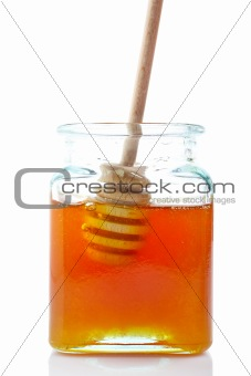 Drizzler inside of honey jar