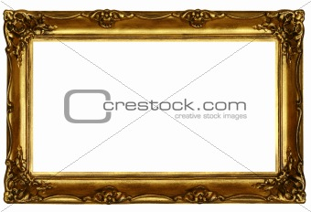 old sculpted golden frame #2