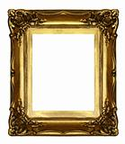 old sculpted golden frame