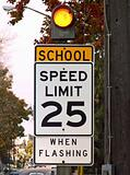 school speed limit sign
