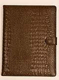 The book from crocodile skin