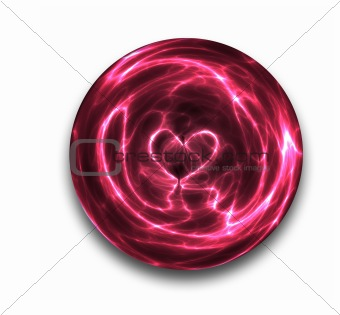 crystal ball heart