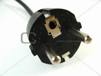 power plug close-up