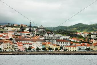 City at Azores coast