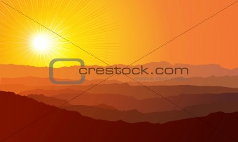 Landscape / Mountains / vector