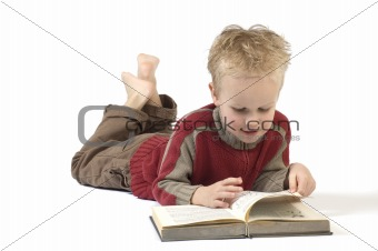 Boy reading a book 2