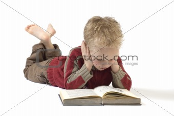 Boy reading a book 4