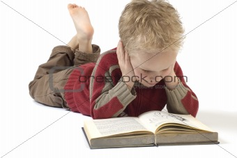 Boy reading a book 5