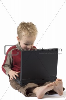 Boy working on a laptop 2