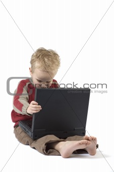 Boy working on a laptop 3