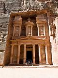 Treasury temple in Petra