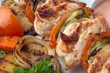 chicken kebab closeup