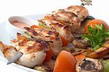 kebab closeup