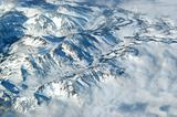 Aerial of Snowcapped Rockies