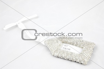 Beaded Gift Tag