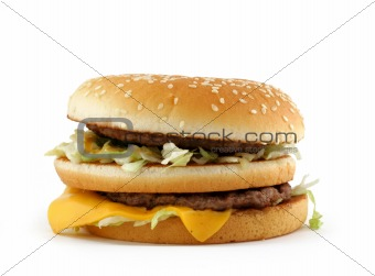 appetizing hamburger
