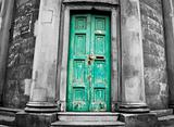 Very old weathered door