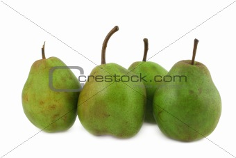 green pears on white #3