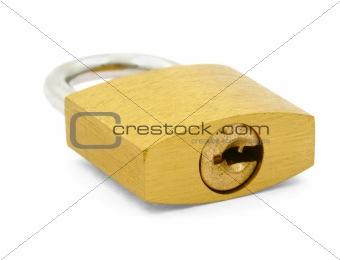 padlock on white