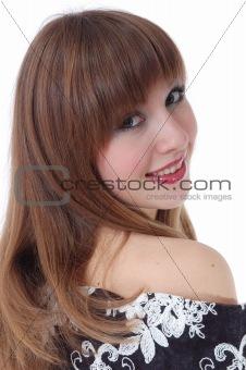 portrait of the nice girl