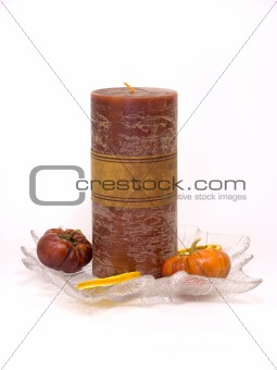 Candle with decoration