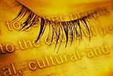 Closed eye - macro