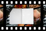 Photo Album with copy space