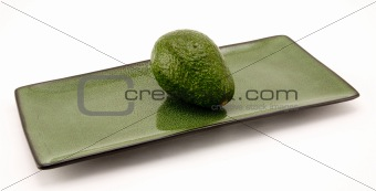 Avocado and Plate
