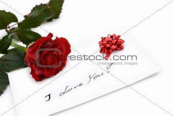 beautiful red rose - valentine card