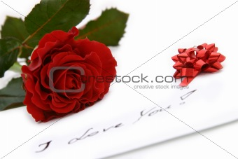 beautiful red rose - valentine card