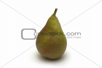one pear on white background