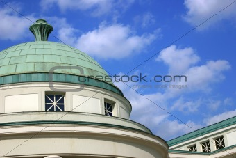 Architectual detail: copper dome