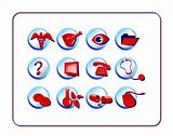 Medical & Pharmacy Icon Set - Red-Blue