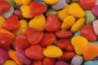 brighly colored valentine hearts background