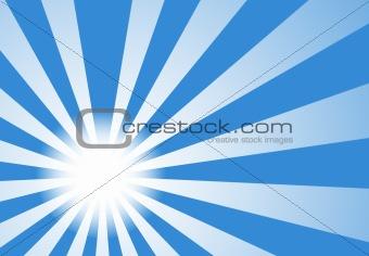 Background of Trendy Sunburst Light